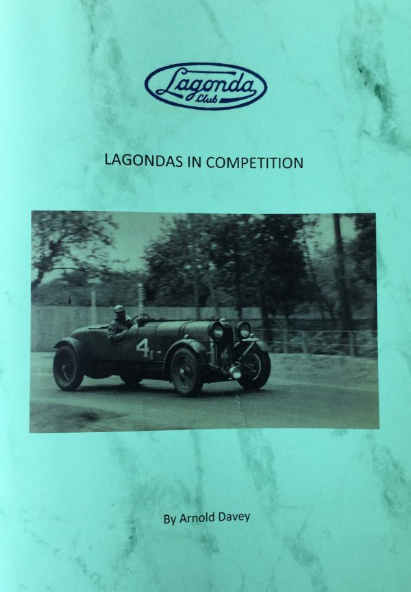 Lagonda's in Competition by Arnold Davey